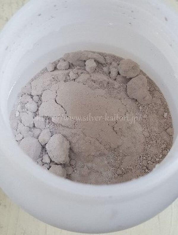 水に浸かった塩化銀