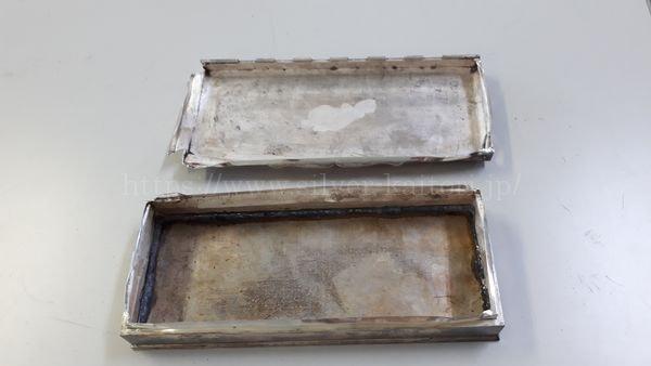 木を外した状態の銀の小箱