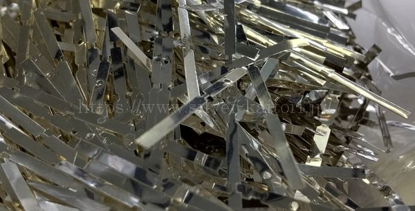 銀の打ち抜き屑